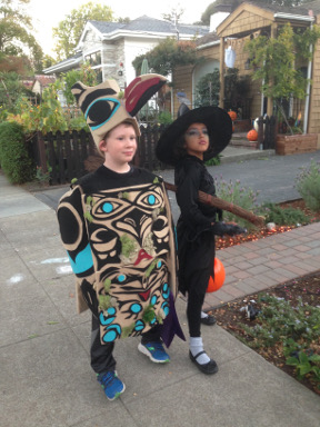 2017: After visiting the totem poles on Haida Gwai, Wyatt asked his mom for a special costume.