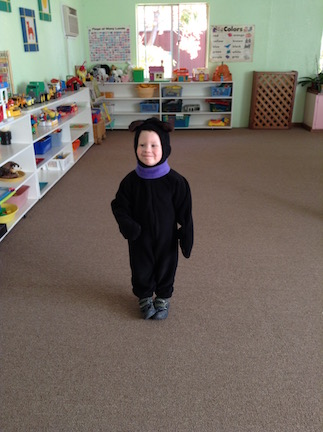 2013: Ingrid's little black bear was the happiest, most cuddly bear in Montessori!