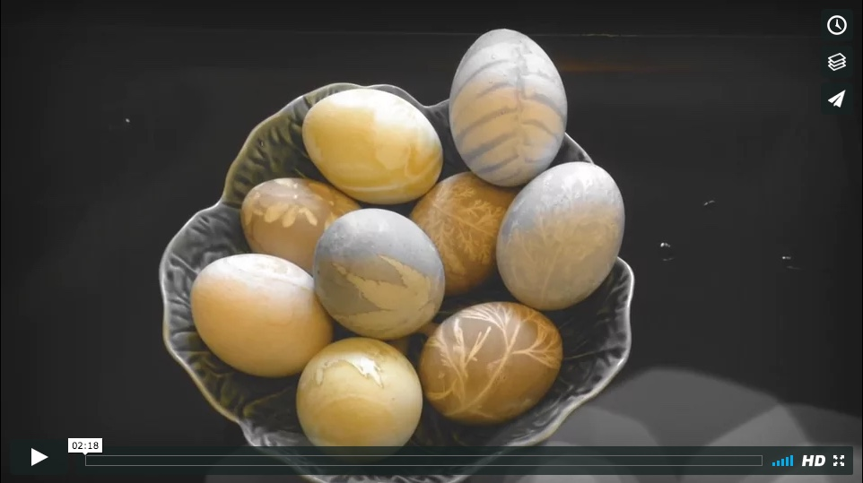 Nature Dyed Easter Eggs